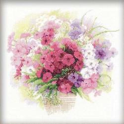 Riolis  kit Watercolour Phlox | Riolis 1069 | Broderie du monde