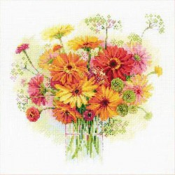Watercolour  Gerberas  1485  RIOLIS