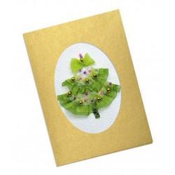 Riolis  kit Carte élégante d'arbre de Noël | Riolis 1188AC | Broderie du monde