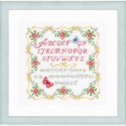 Alphabet  avec  des  roses  0153863  Vervaco