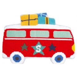Coussin  en  vacances  en  bus  0150422  Vervaco
