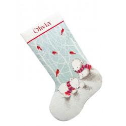 Chaussette  Ours  de  Père  Noël  70-08902  Dimensions