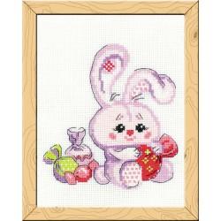 Riolis  kit  Lapin avec bonbons | Riolis HB-119 | Broderie du monde