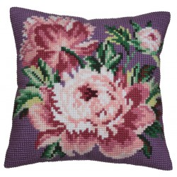 Coussin  Rose  chou   5.042  Collection d'art