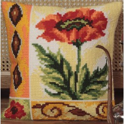 Coussin  Coquelicot   5.016  Collection d'art