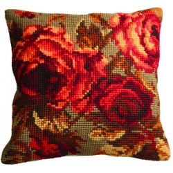 Coussin  Rose  chou  droite  5.113  Collection d'art