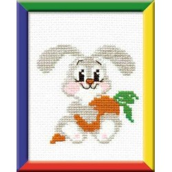Riolis  kit  Lapin avec carotte | Riolis HB-051 | Broderie du monde