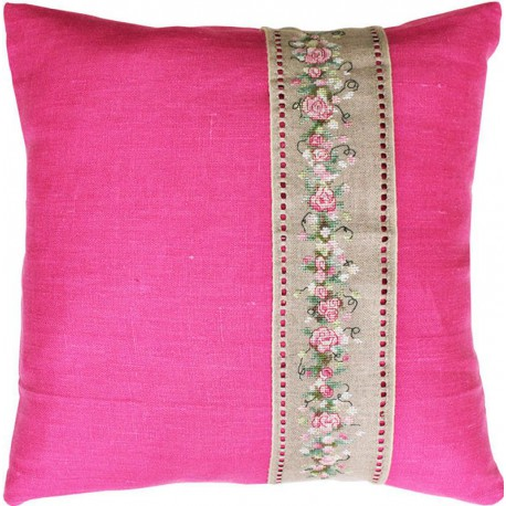 Coussin  bande  Roses  PB106  Luca-s