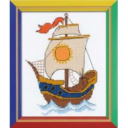Riolis  kit  Sur les vagues | Riolis HB-129 | Broderie du monde
