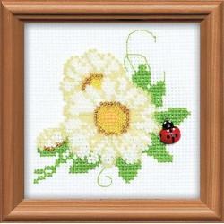 Riolis  kit  Fleurs | Riolis 1174 | Broderie du monde