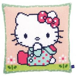 Coussin  Hello  Kitty  sur  la  pelouse  0155210  Vervaco