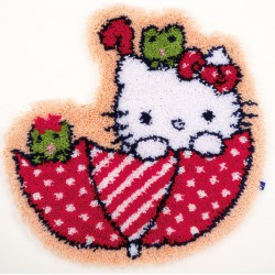 Tapis  Hello  Kitty  dans  le  parapluie  0155205  Vervaco