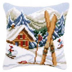 Coussin  Plaisirs  de  la  neige  0021868  Vervaco