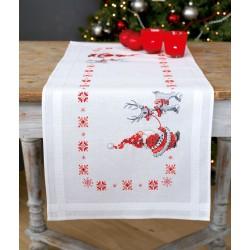 Chemin  de  table  Les  Lutins  de  Noël  0150617  Vervaco