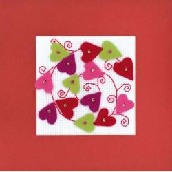 Riolis  kit Carte Collage de cœurs | Riolis 1421AC | Broderie du monde