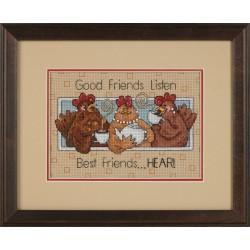 Les  bonnes  amies  écoutent  165079  Dimensions