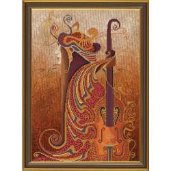 Nova Sloboda  kit The music of soul, violin  Nova Sloboda  HHK 3126 | Broderie du monde