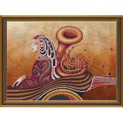 Nova Sloboda  kit The music of soul, trumpet  Nova Sloboda  HHK 3127 | Broderie du monde