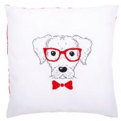 Kit  coussin  Chien  avec  des  lunettes  rouges  0155963  Vervaco