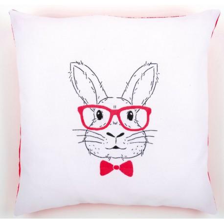 Kit  coussin  Lapin  avec  des  lunettes  rouges  0155964  Vervaco