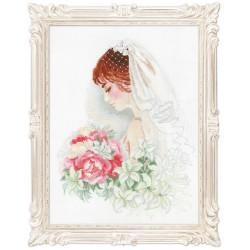 La mariée  100/050  Riolis  Broderie  Point de croix compté