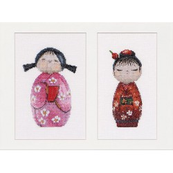 Kit point compté  Kokeshi  Dolls 547A  Thea Gouverneur  Aida