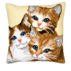 Vervaco  kit  Coussin au point de croix chats | Vervaco  0008506 | Broderie du monde