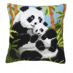 Vervaco  kit  Coussin au point de croix panda | Vervaco  0008513 | Broderie du monde