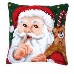 Vervaco  kit  Coussin au point de croix  père Noël | Vervaco  0008518 | Broderie du monde