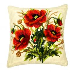 Vervaco  kit  Coussin  au  point de croix  bouquet de roses | Vervaco  0008523 | Broderie du monde