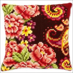 VERVACO  0148044  Coussin  Fleurs et Arabesques III