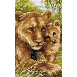 Riolis  kit Lioness with cub | Riolis 1262