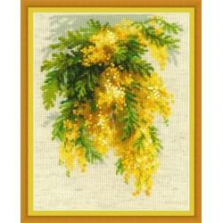 RIOLIS  1615  Mimosa  Brodrie  Point de croix compté