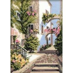 Riolis  kit The Italian courtyard | Riolis 373 | Broderie du monde