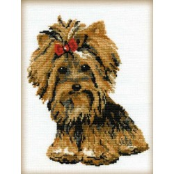 Riolis  kit Yorkshire Terrier | Riolis 825 | Broderie du monde