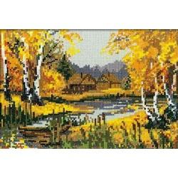 Riolis  kit Autumn Charm | Riolis 920 | Broderie du monde