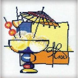 Riolis  kit Crème glacée | Riolis 975 | Broderie du monde