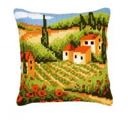 Vervaco | kit  Coussin  au  point de croix  la Toscane | Vervaco  0008768 | Broderie du monde