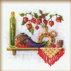 Riolis  kit Tomate et aubergine | Riolis 993 | Broderie du monde