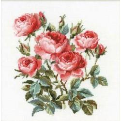Riolis  kit Garden Roses | Riolis 1046 | Broderie du monde