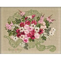 Riolis  kit Bouquet de mariage | Riolis 1072 | Broderie du monde