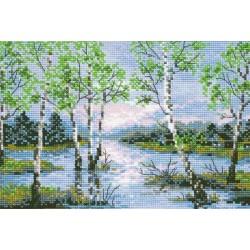 Riolis  kit Spring Floods | Riolis 1114 | Broderie du monde