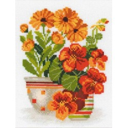 Riolis  kit Nasturtiums & Marigolds | Riolis 1116 | Broderie du monde
