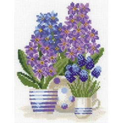 Riolis  kit Hyacinths | Riolis 1117 | Broderie du monde