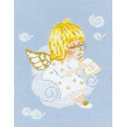 Riolis  kit Ange avec livre | Riolis  1136 | Broderie du monde