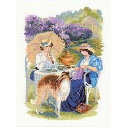 Riolis  kit The Lilac Blossoms | Riolis 1141 | Broderie du monde