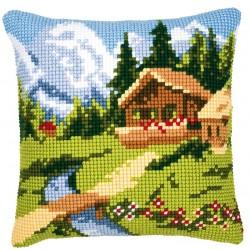 Coussin  Chalet de Montagne   0008747  Vervaco
