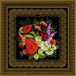 RIOLIS  1642  Coussin  panneau  Zhostovo  peinture
