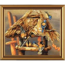 Nova Sloboda  kit Bird Calendar, Winter  Nova Sloboda  CP 4022 | Broderie du monde
