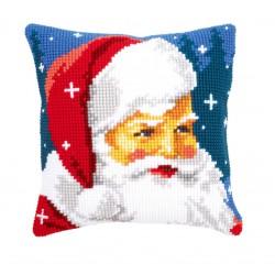 Vervaco  kit  Coussin au point de croix  Père Noël | Vervaco  0144705 | Broderie du monde